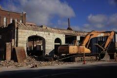 Demolierung des Gebäude-Meridians Mississippi Stockfotos