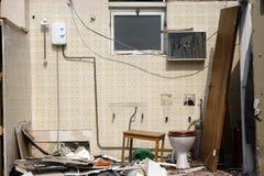 Demolierung des Gebäudes Lizenzfreies Stockbild