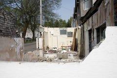 Demolierung des Gebäudes Stockfotos