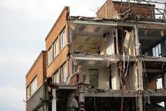 Demolierung des Gebäudes Lizenzfreie Stockfotos