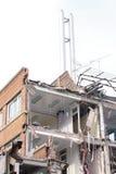 Demolierung des Gebäudes Stockbilder