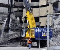 Demolierung des Giants-Stadions Stockbilder
