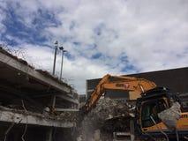 Demolierung des Parkplatzes in Mayflower Plymouth Lizenzfreie Stockfotos