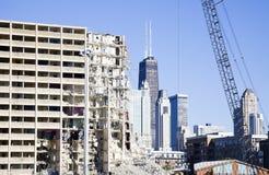 Demolierung des Projektgebäudes Stockbilder