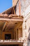 Demolierung eines alten Gebäudes Stockfotos