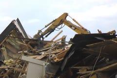 Demolierung eines Hauses stock footage