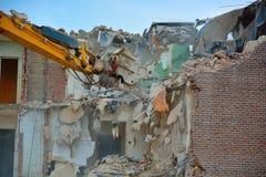 Demolierung eines Hauses stockfotos