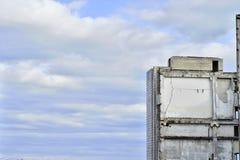Demolierung und Abbau der Reste des großen industri Stockfotografie