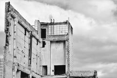 Demolierung und Abbau der Reste des großen industri Lizenzfreies Stockfoto