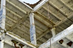 Demolierung und Abbau der Reste des großen Industrieunternehmens Stockfotos