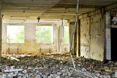Demolierung und Abbau der Reste des großen Industrieunternehmens Lizenzfreies Stockfoto