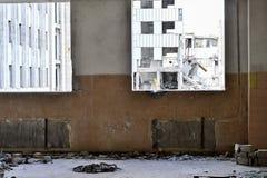 Demolierung und Abbau der Reste des großen Industrieunternehmens Stockbild