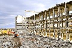 Demolierung und Abbau der Reste des großen Industrieunternehmens Stockfotografie