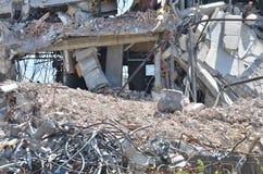 Demolierung von Gebäude 7 Stockbild