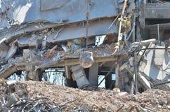 Demolierung von Gebäude 6 Stockbilder