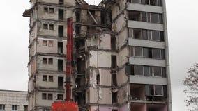 Demolierung von Gebäude timelapse stock footage
