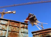 Demolierung-Wiederverwertung stockbilder