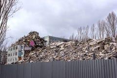 Demolierungs-Haus Stockfotografie