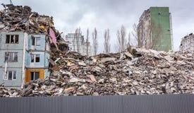 Demolierungs-Haus Stockfotos