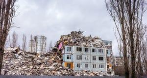 Demolierungs-Haus Stockfoto