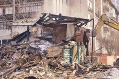 Demolierungs-Haus Errichtende Erneuerung an der Stadt Industrieller Unterbrecher lizenzfreies stockfoto