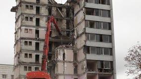 Demolierungsgebäude stock video footage