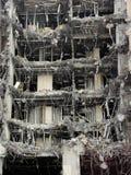 Demolish. A hotel building under demolishon Royalty Free Stock Photo