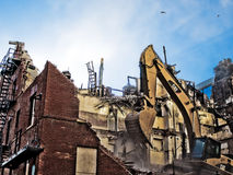 Demolish. The Arlington Apartments being demolished November 2008 royalty free stock image