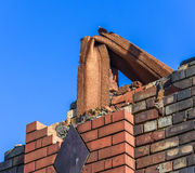 Demolished Brick Building Royalty Free Stock Images