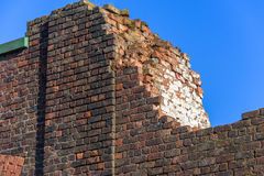 Demolished Brick Building Royalty Free Stock Image