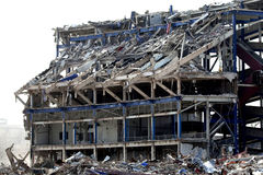 Demolished building Royalty Free Stock Photo