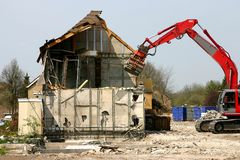 Demolished building royalty free stock photo