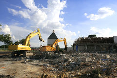 Demolished building Stock Photos