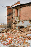 Demolished building of factory in Tyumen Stock Photo