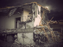 Demolished building Royalty Free Stock Photos