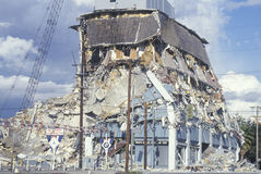 A demolished building at Olympic Blvd Stock Images