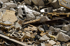 Demolished Building Rubble Pieces Stock Photos