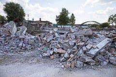 Demolished buildings Stock Images
