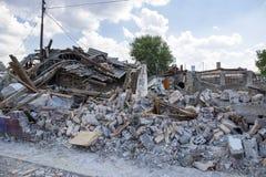 Demolished buildings Stock Image