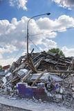 Demolished buildings Royalty Free Stock Photography