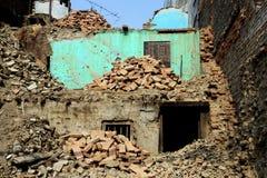 Demolished buildings. In Kathmandu, Nepal Stock Image