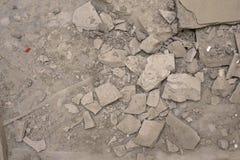 Demolished concrete floor Royalty Free Stock Photography