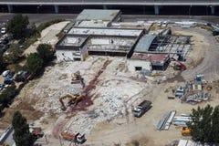 Demolished construction near Pipera passage Royalty Free Stock Photos