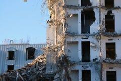 Demolished destructed ruínas da construção fotos de stock