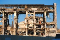 Demolished destructed ruínas da construção fotografia de stock royalty free