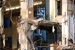 Demolished destructed ruínas da construção fotos de stock royalty free