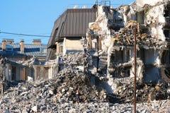 Demolished destructed ruínas da construção imagens de stock royalty free