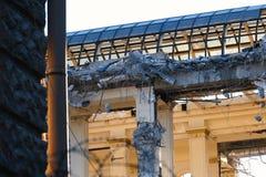 Demolished destructed ruínas da construção foto de stock royalty free