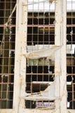 Demolished destruiu a ruína da fábrica fora fotos de stock
