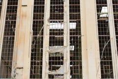 Demolished destruiu a ruína da indústria fora foto de stock royalty free